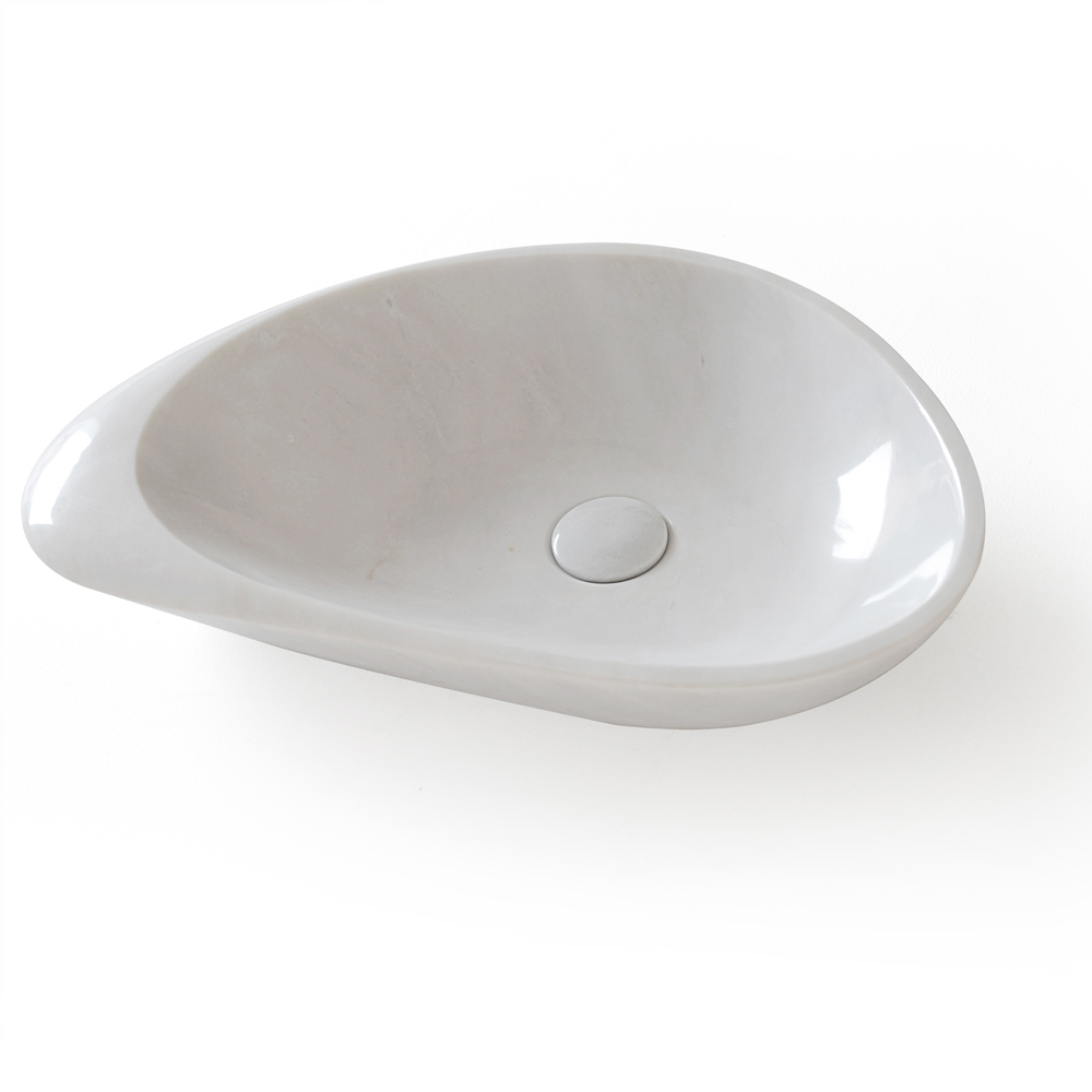 White Carrara Marble Vessel Sink