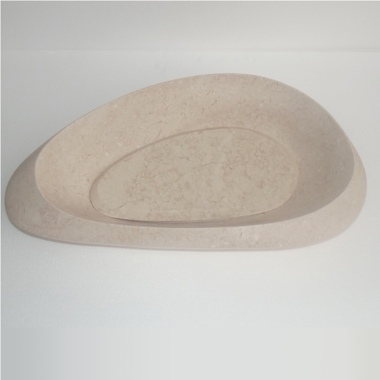 Eviva Pebble Stone 24 In Beige Marble Vessel Sink Decors Us