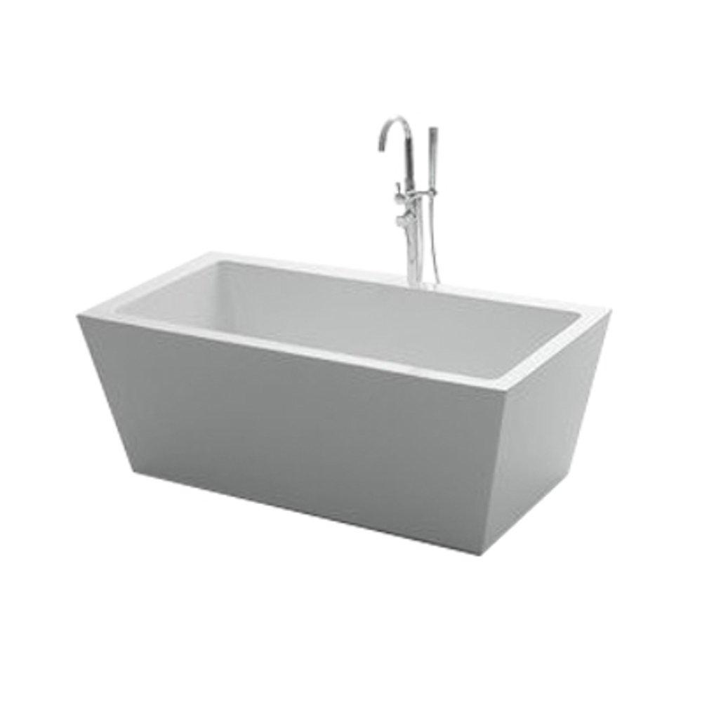 "EVTB1010 63WH A Main - Eviva Natalia 63"" Free-Standing Acrylic Bathtub"