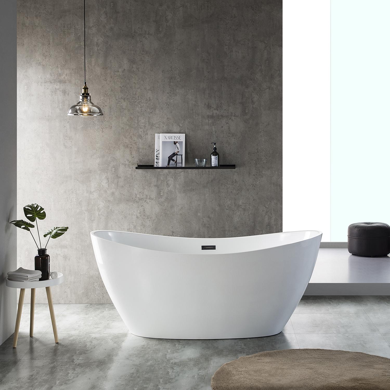 "EVTB1011 60WH A Main - Eviva Bella 60"" White Acrylic Free Standing Bathtub"