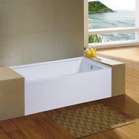 EVTB3215 R 60WH A 01 202x202 - Eviva Nova Alcove 60 in. Acrylic Bathtub with Right Hand Drain