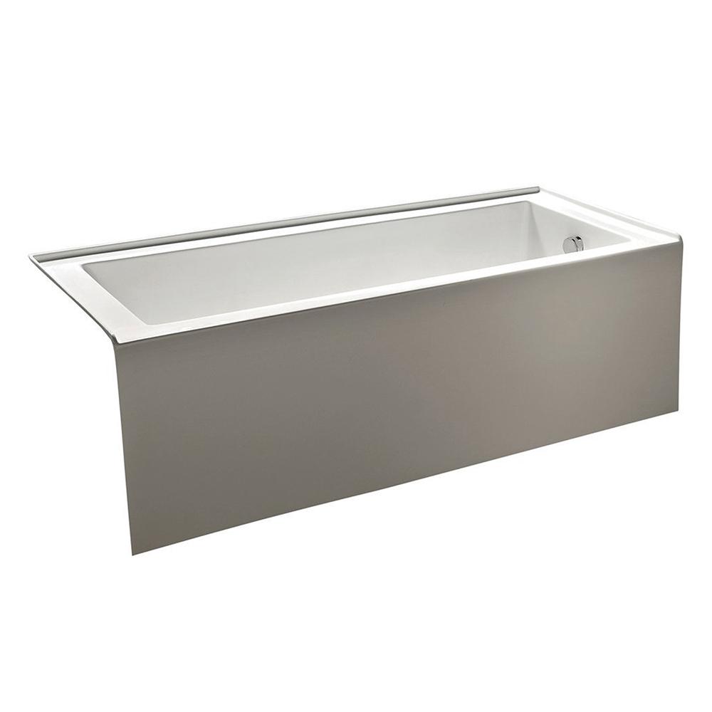 EVTB3215 R 60WH A Main - Eviva Nova Alcove 60 in. Acrylic Bathtub with Right Hand Drain