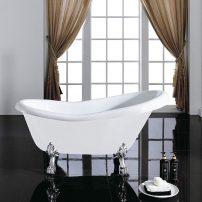 EVTB4303 59WH A 01 202x202 - Eviva Stella 59 in. White Acrylic Clawfoot Bathtub