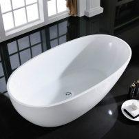 "EVTB6218 60WH A 01 202x202 - Eviva Sarah Free Standing 60"" Acrylic Bathtub"