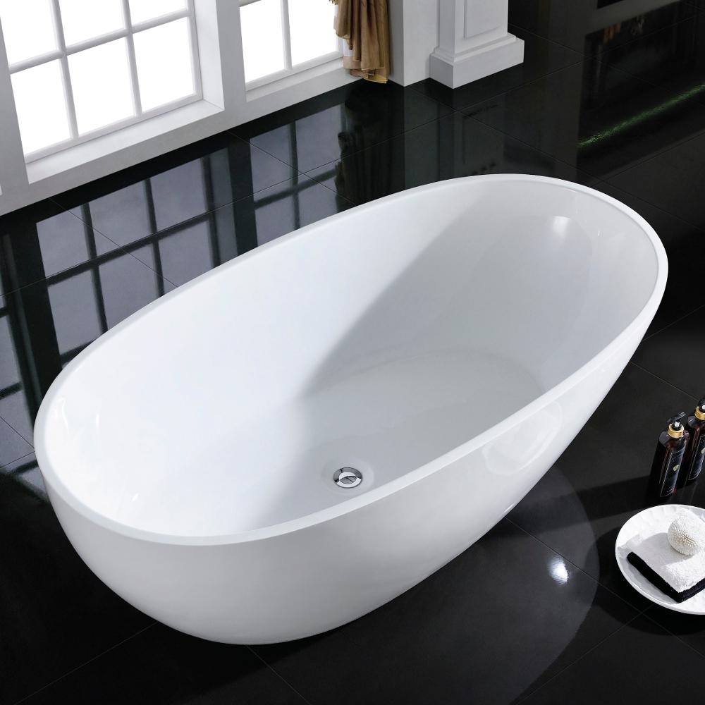 Eviva sarah free standing 60 acrylic bathtub decors us for Best acrylic tub