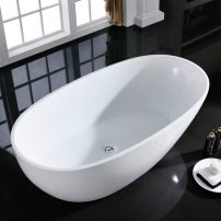 "EVTB6218 67WH A 01 202x202 - Eviva Sarah Free Standing 67"" Acrylic Bathtub"