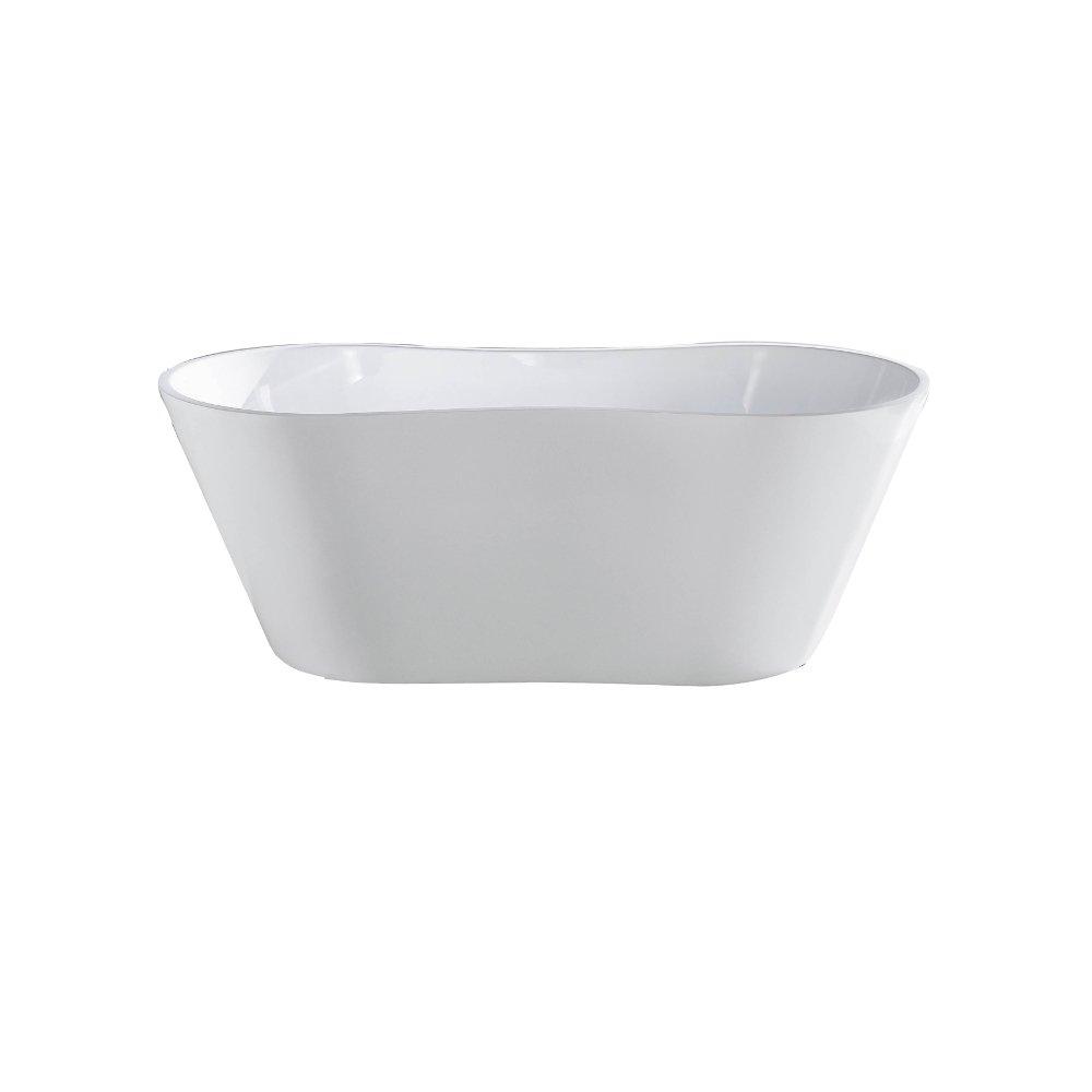 "EVTB6219 67WH A Main - Eviva Smile Free Standing 67"" Acrylic Bathtub"