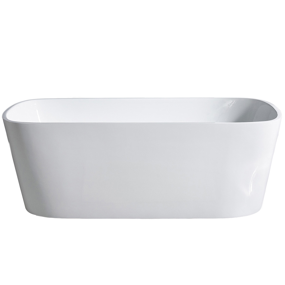 EVTB6226 67WH A Main - Eviva Aria Freestanding 67 in. Acrylic Bathtub in White