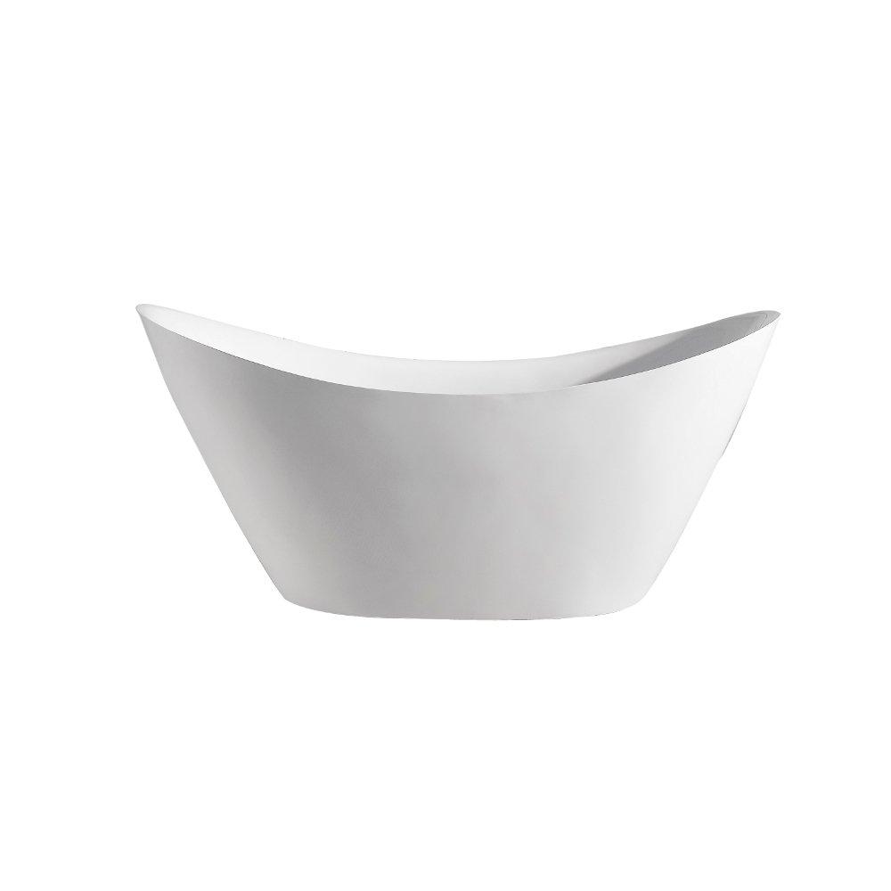 "EVTB6227 68WH A Main - Eviva Lulu Free Standing 68"" Acrylic Bathtub"