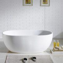 EVTB6249 61WH A 01 202x202 - Eviva Stella Freestanding 61 in. Acrylic Bathtub in White