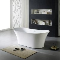 EVTB6272 71WH A 01 202x202 - Eviva Skylar Freestanding 71 in. Acrylic Bathtub in White
