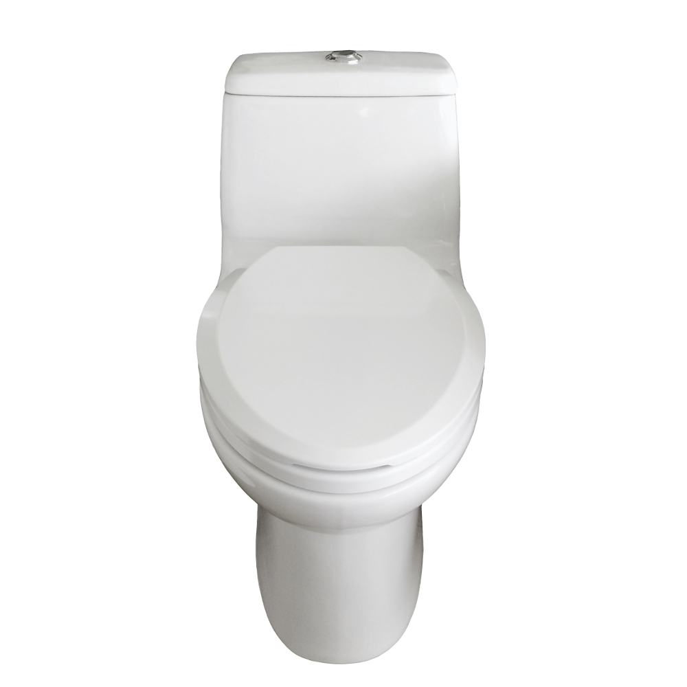 EVTL527 A Main - Eviva Hurricane Elongated Cotton White One Piece Toilet with Soft Closing Seat Cover, High efficiency, Water Sense & CUPC certified with the united states plumbing standards
