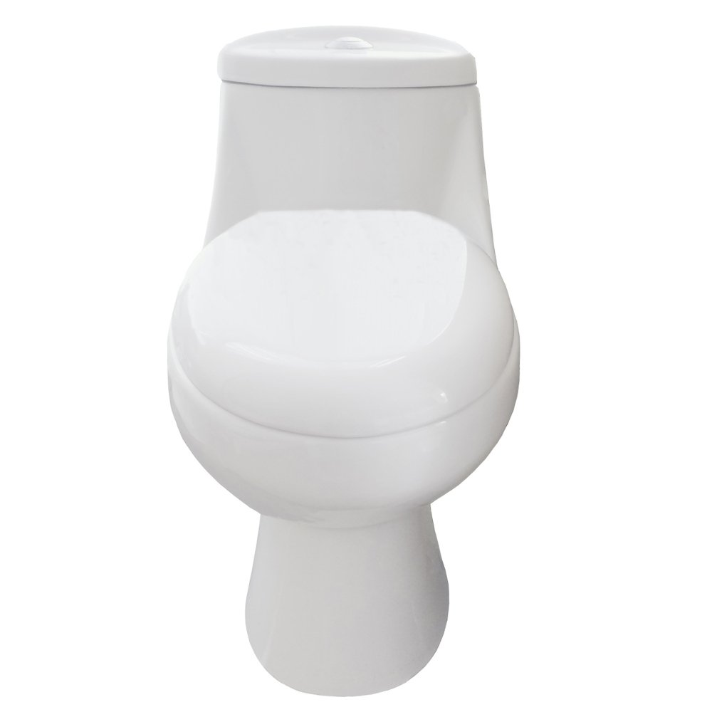 EVTL534 A Main - Eviva Sleek Elongated Cotton White One Piece Toilet with Soft Closing Seat Cover, High efficiency, CUPC certified with the united states plumbing standards