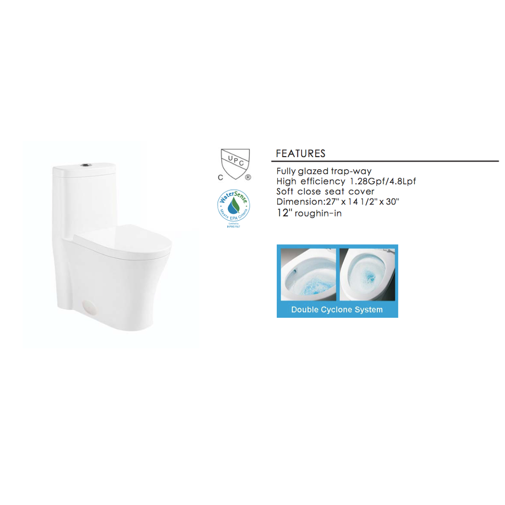 Stupendous Eviva Ferri Elongated Cotton White One Piece Toilet With Soft Closing Seat Cover High Efficiency Water Sense Cupc Certified With The United States Caraccident5 Cool Chair Designs And Ideas Caraccident5Info