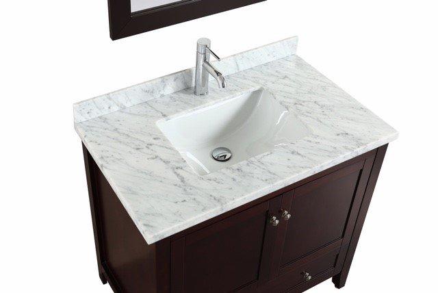 Eviva Lime 30 Quot Bathroom Vanity Teak Dark Brown With White