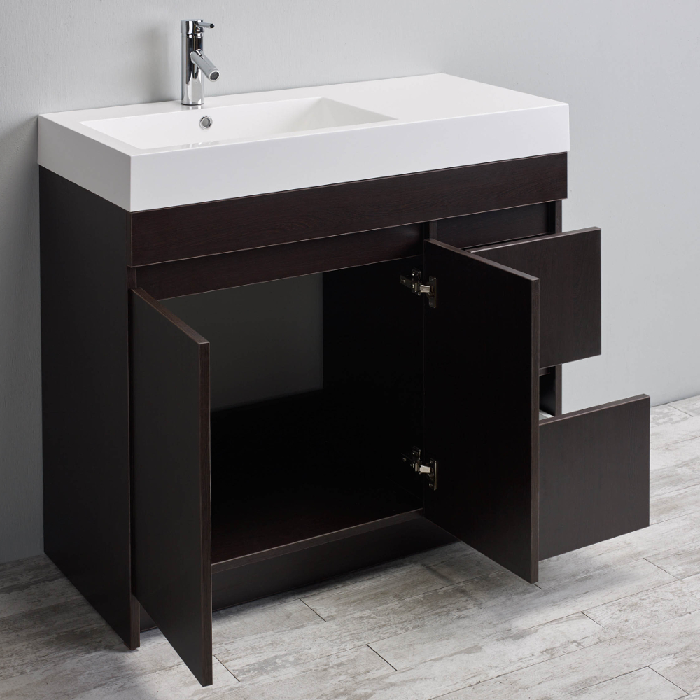 Eviva Beach 39 Quot Wenge Dark Brown Modern Bathroom Vanity