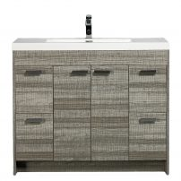 "EVVN1200 8 48ASH A Main 202x202 - Eviva Lugano 48""  Ash Modern Bathroom Vanity with White Integrated Acrylic Sink"