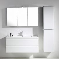 "EVVN1200 SS 48WH WM A Main 202x202 - Eviva Glazzy 48"" Wall Mount Modern Bathroom Vanity with Single Sink (High Glossy White)"