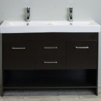 EVVN127 48DE A Main 202x202 - Totti Gloria 48 inch Espresso Double Sink Bathroom Vanity with White Integrated Double Porcelain Sink