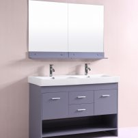 EVVN127 48GR DS A 01 202x202 - Totti Gloria 48 inch Grey Double Sink Bathroom Vanity with White Integrated Double Porcelain Sink