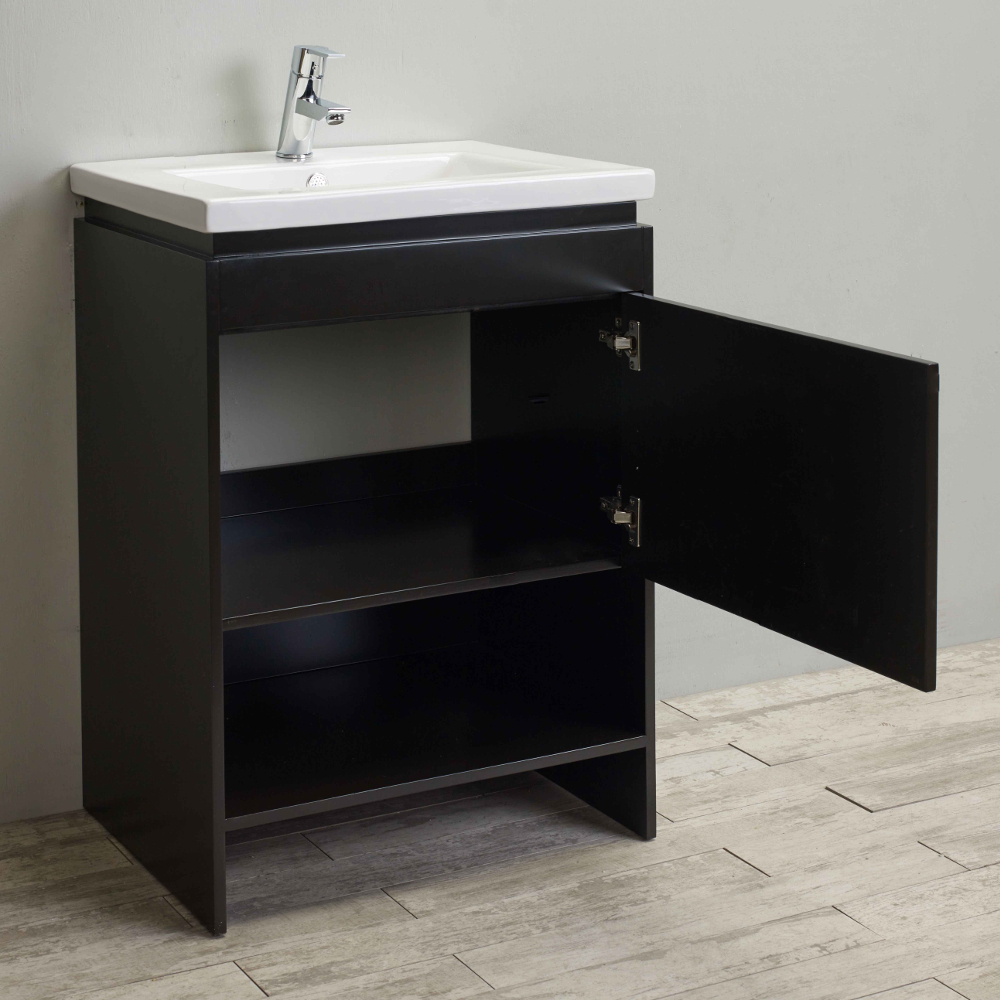 24 Inch Espresso Bathroom Vanity With Integrated Undermount Porcelain Sink Evvn144 24es A Main Touch To Zoom 01