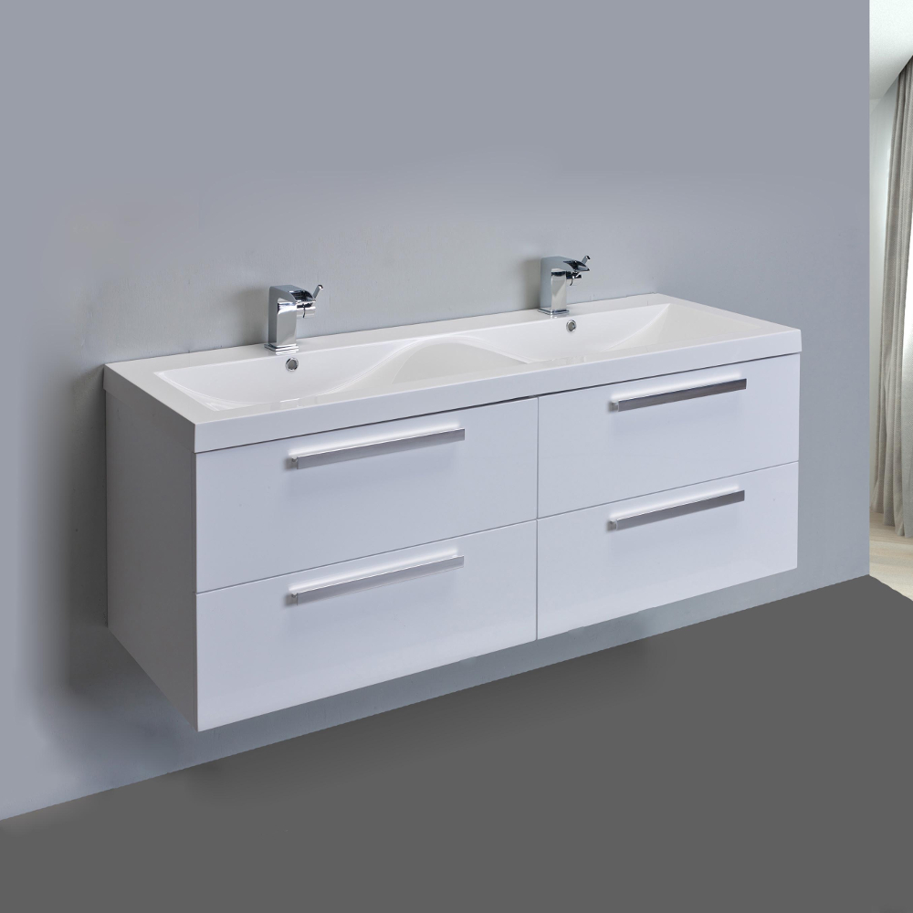 Eviva Surf 57 Quot White Modern Bathroom Vanity Set With