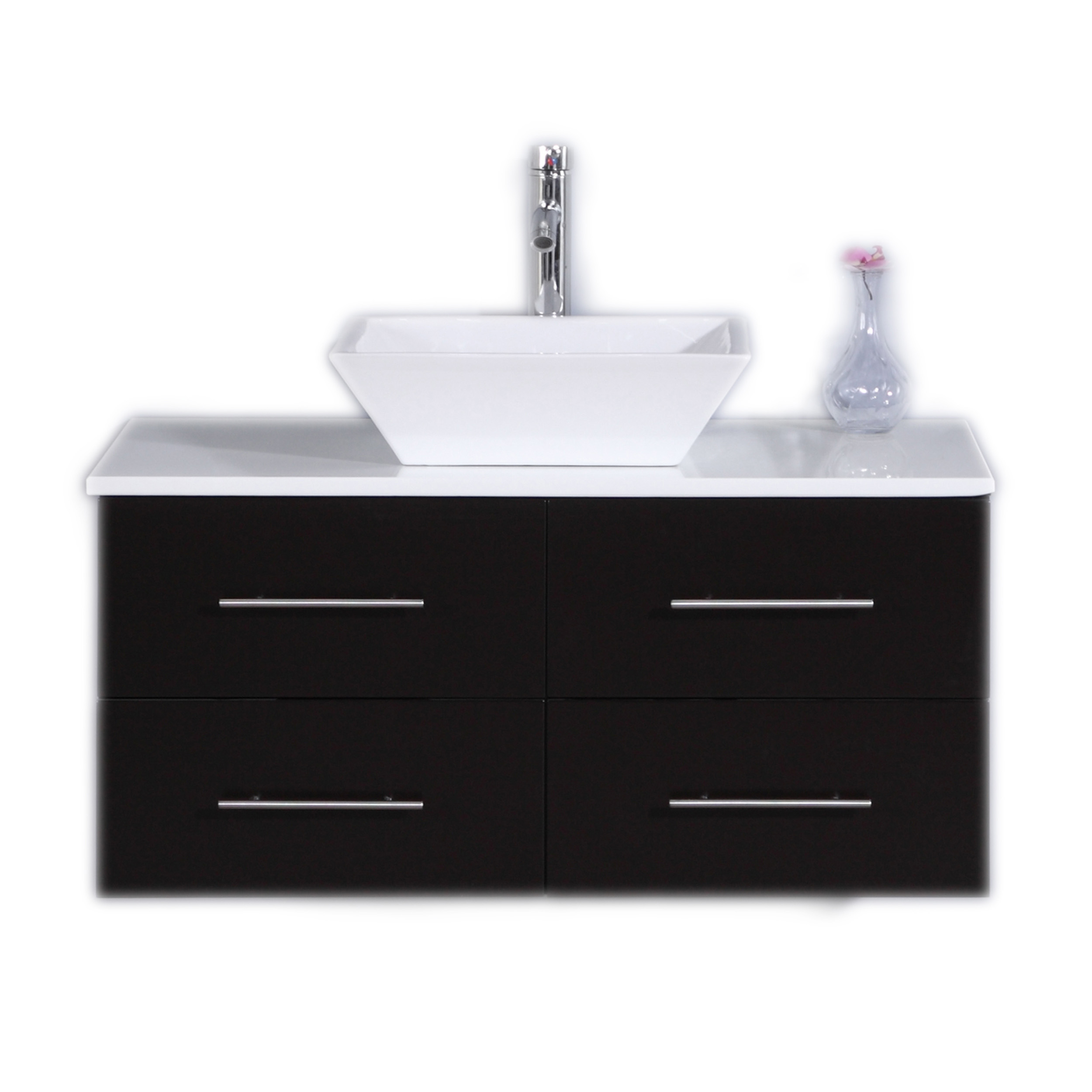 Totti Wave 36 Inch Espresso Modern Bathroom Vanity With Counter Top And Sink Decors Us