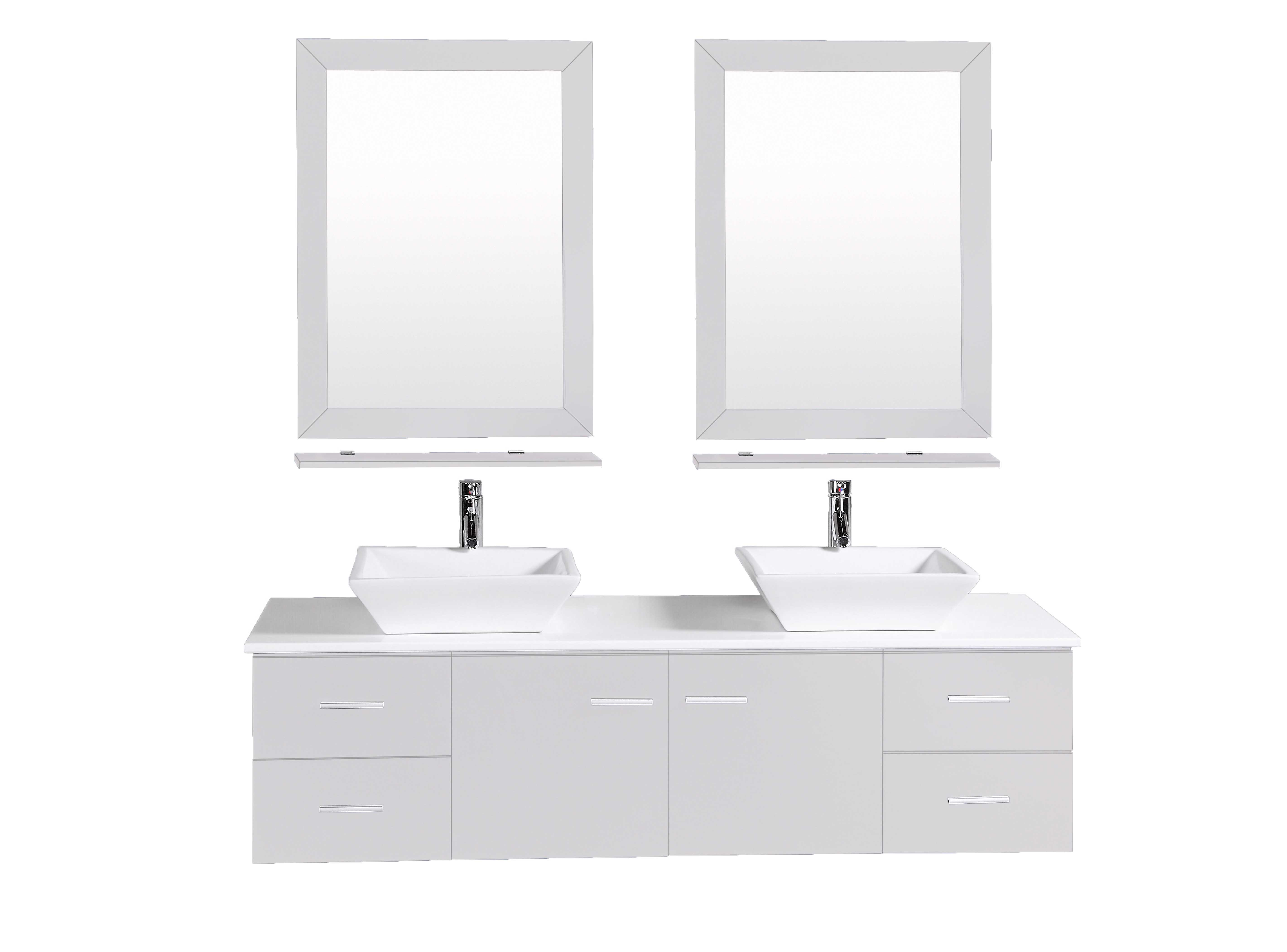 Totti Wave 72 Inch Grey Modern Double Sink Bathroom Vanity With Counter Top And Double Sinks Decors Us