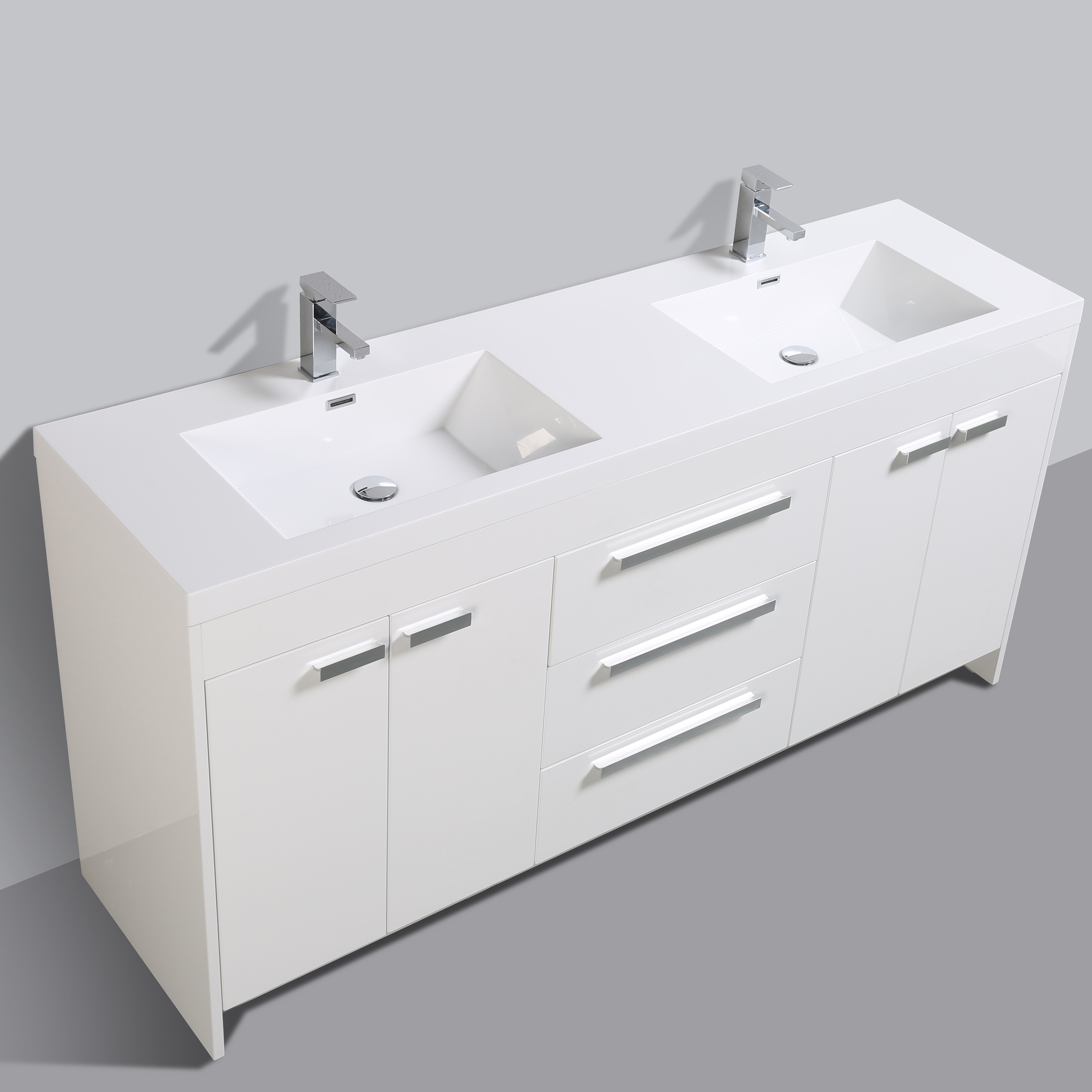 Eviva Lugano 72 Quot White Modern Bathroom Vanity With White