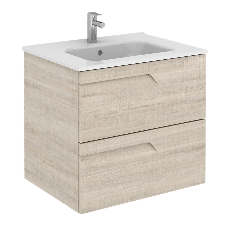 "EVVN23 24BG Vitale A Main - Eviva Vitta 24"" Beige Modern Bathroom Vanity with White Integrated Porcelain Sink"