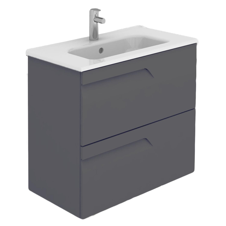 """EVVN23 24GR Vitale A Main - Eviva Vitta 24"""" Gray Modern Bathroom Vanity with White Integrated Porcelain Sink"""