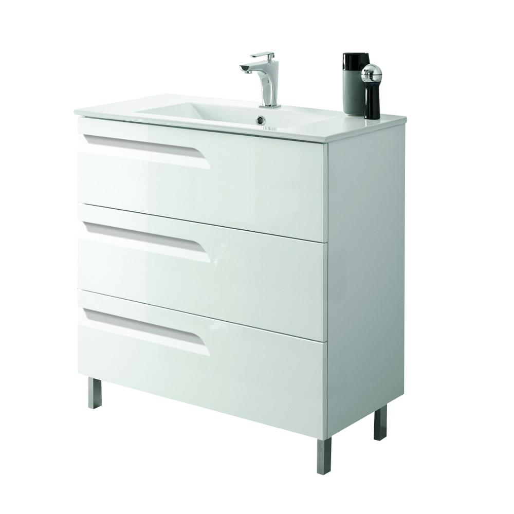 Eviva Vitta 24 White Modern Bathroom Vanity With White
