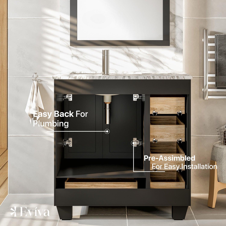 4b872a8f02e ... white carrara marble counter-top. EVVN30-30X18ES A Main. Touch to zoom  · EVVN30-30X18ES A 01 EVVN30-30X18ES A 02 EVVN30-30X18ES A 03  EVVN30-30X18ES A 04
