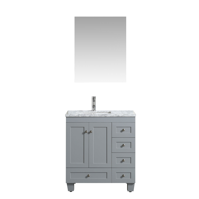 Eviva Happy 30 Quot X 18 Quot Transitional Grey Bathroom Vanity