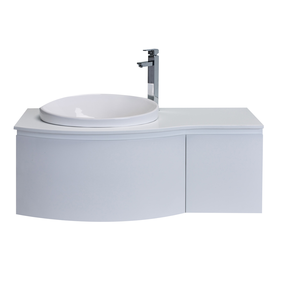 bathroom sinks top mount eviva curvy 48 quot white modern bathroom vanity wall mount 16646