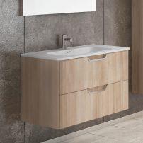 "EVVN34 24OAK WM A 01 202x202 - Eviva Hayat 24"" Oak Modern Wallmount Bathroom Vanity with White Integrated Porcelain Sink"