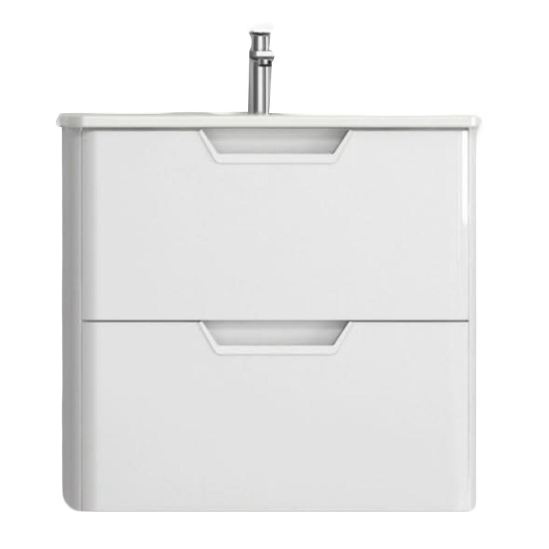 "EVVN34 24WH WM A Main - Eviva Hayat 24"" White Modern Wallmount Bathroom Vanity with White Integrated Porcelain Sink"