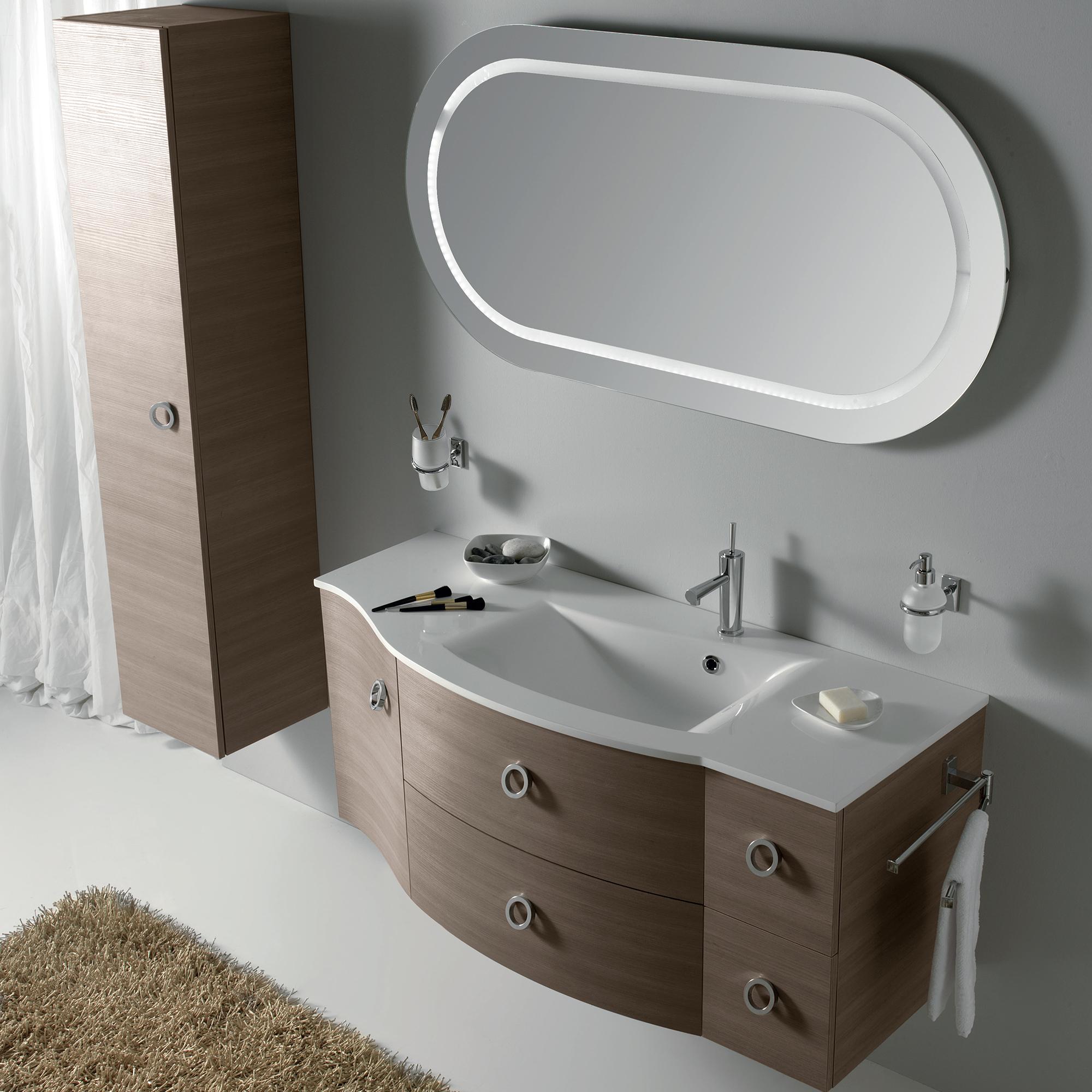 "Eviva Romina 52"" Wenge Modern Bathroom Vanity with White ..."
