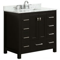 EVVN411 36ES A 01 202x202 - Eviva Hampton 36 in. Transitional Espresso Bathroom Vanity with White Carrara Countertop and White Undermount  Porcelain Sink