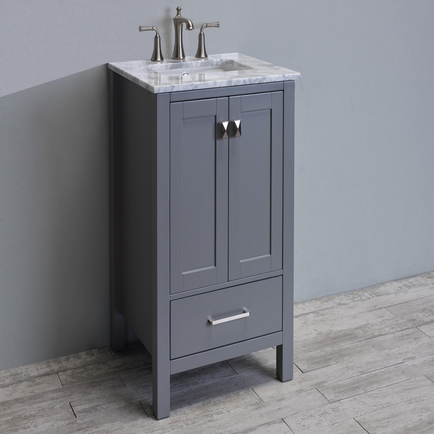 Eviva Aberdeen 24 Quot Transitional Grey Bathroom Vanity