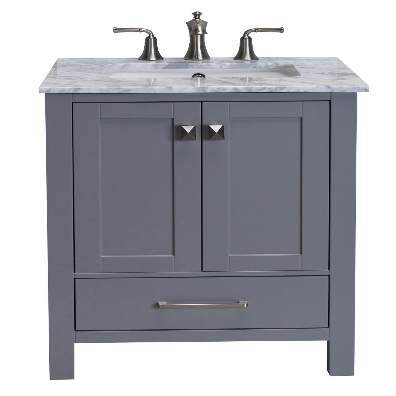 Eviva Aberdeen 24 Transitional Grey Bathroom Vanity