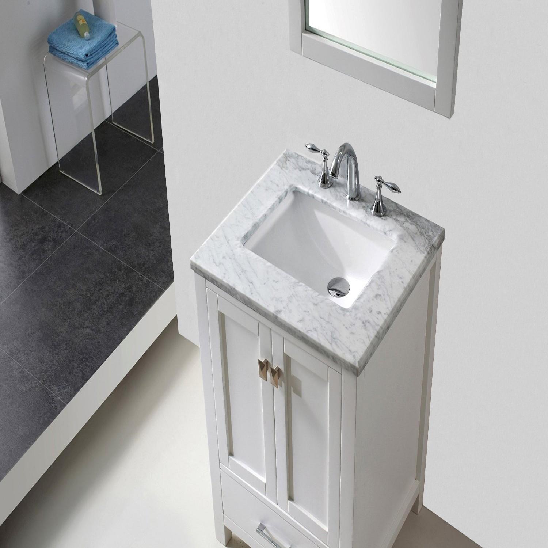 Eviva Aberdeen 24 Inch Transitional White Bathroom Vanity
