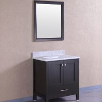 "EVVN412 30ES A 01 1 202x202 - Eviva Aberdeen 30"" Transitional Espresso Bathroom Vanity with White Carrera Countertop"