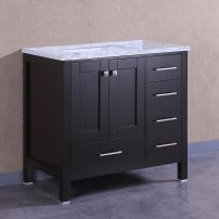 "EVVN412 36ES A 01 202x202 - Eviva Aberdeen 36"" Transitional Espresso Bathroom Vanity with White Carrera Countertop"