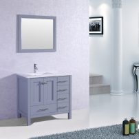 "EVVN412 36GR A 03 202x202 - Eviva Aberdeen 36"" Transitional Grey Bathroom Vanity with White Carrera Countertop &  Square Sink"