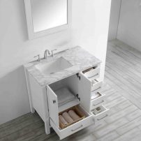 "EVVN412 36WH A 01 202x202 - Eviva Aberdeen 36"" Transitional White Bathroom Vanity with White Carrera Countertop"