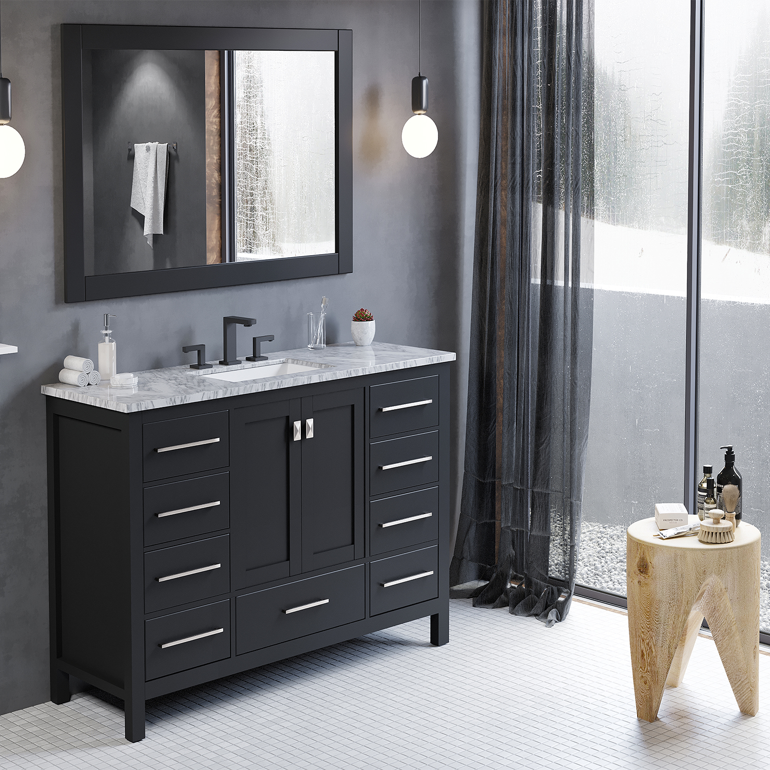 "Eviva Aberdeen 42"" Transitional Espresso Bathroom Vanity ..."