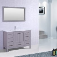 "EVVN412 42GR A 01 202x202 - Eviva Aberdeen 42"" Transitional Grey Bathroom Vanity with White Carrera Countertop"
