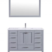 "EVVN412 42GR A Main 202x202 - Eviva Aberdeen 42"" Transitional Grey Bathroom Vanity with White Carrera Countertop"
