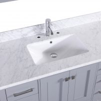 "EVVN412 48GR A 03 1 202x202 - Eviva Aberdeen 48"" Transitional Grey Bathroom Vanity with White Carrera Countertop & Square Sink"